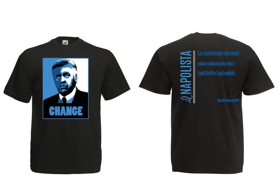 La maglietta del Napolista per Carlo Ancelotti