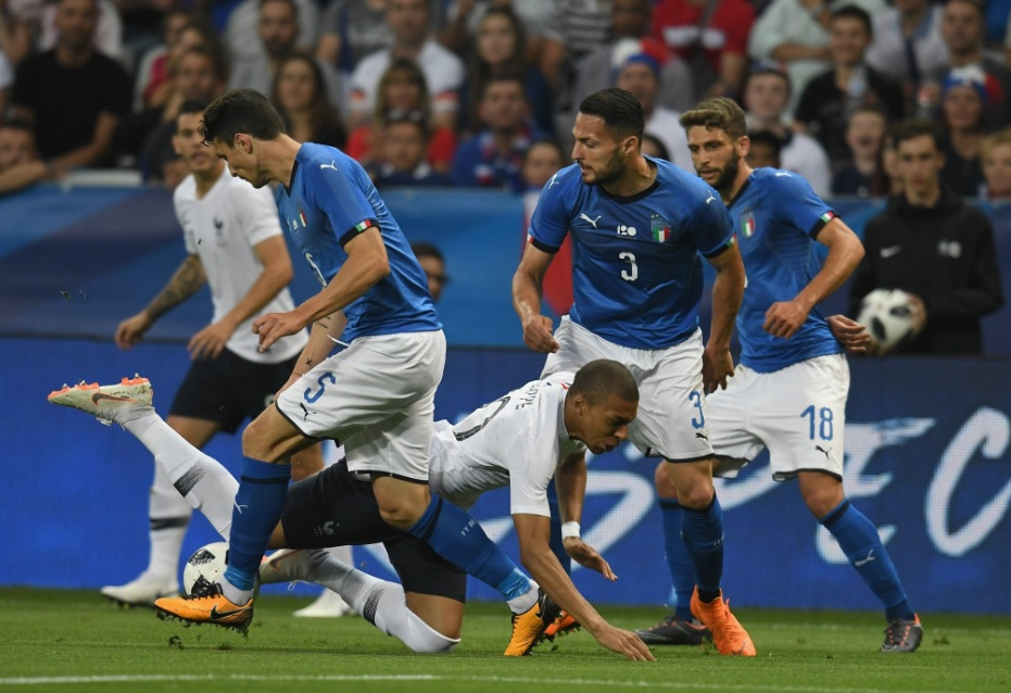 Francia-Italia 3-1: differenza enorme a Nizza, per gli azzurri segna Bonucci