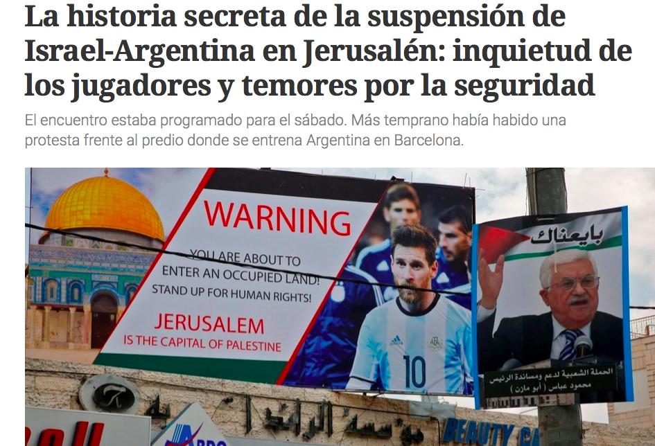 L'Argentina rinuncia all'amichevole in Israele: «Troppo pericoloso»