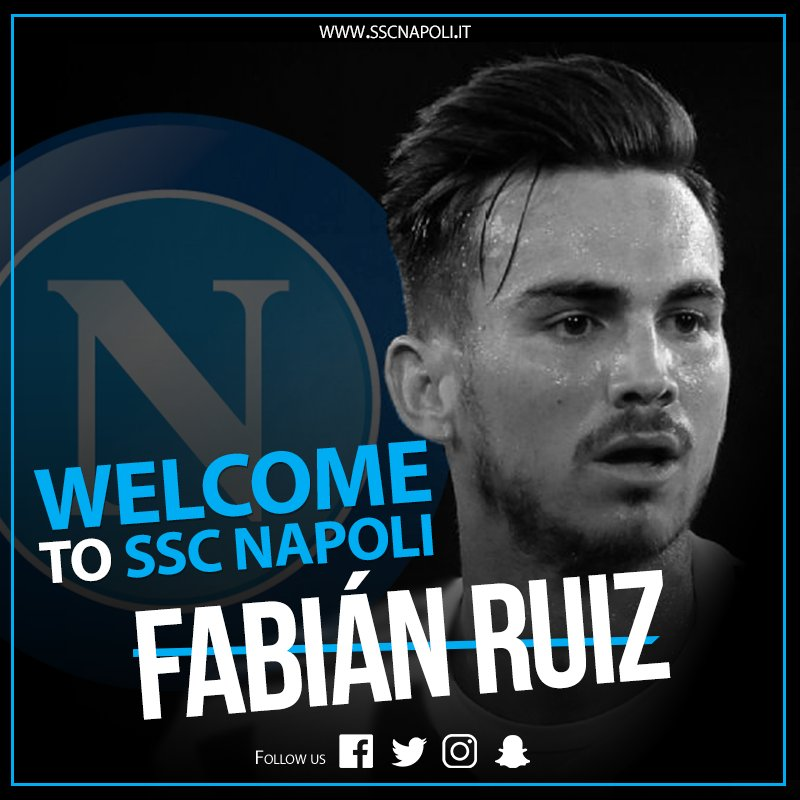 Ufficiale: Fabian Ruiz è un nuovo calciatore del Napoli