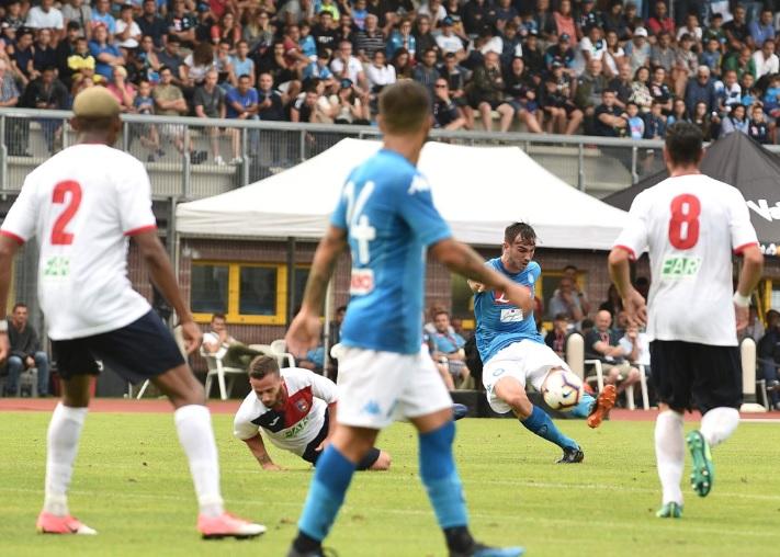 Napoli-Gozzano 4-0, Fabian Ruiz illumina un gioco che prova ad essere diverso (VIDEO)