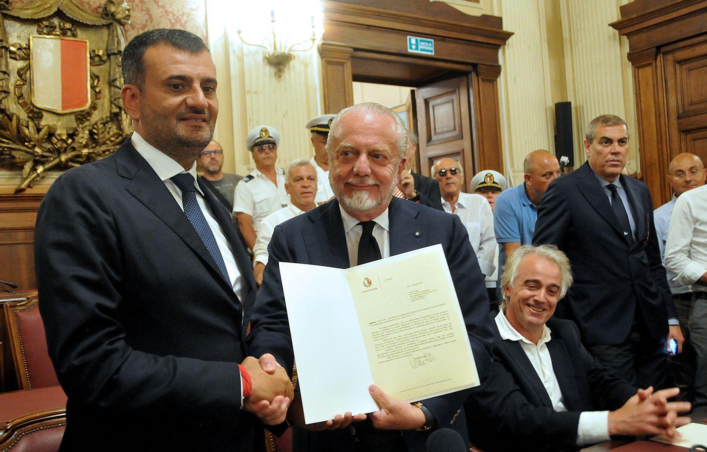 Decaro (sindaco Bari): «De Laurentiis ha un carattere complicato, spero possa far pace con De Magistris»