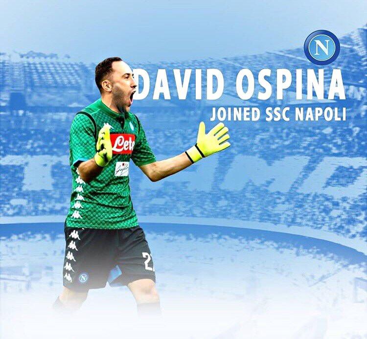 David Ospina è un calciatore del Napoli: depositato il contratto in Lega