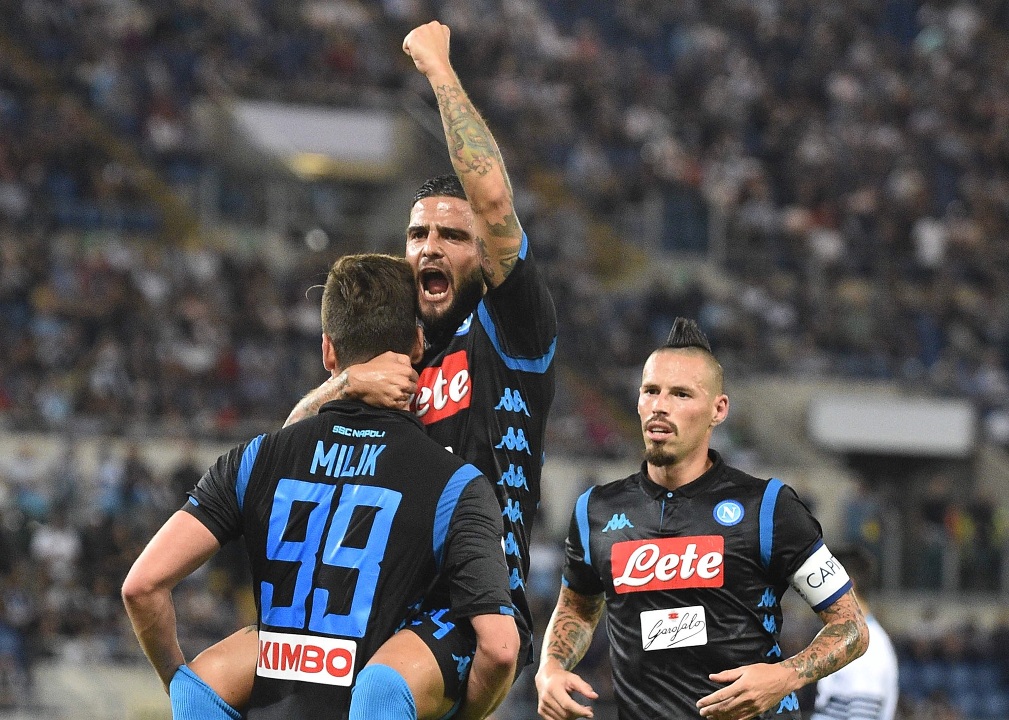 Lazio-Napoli 1-1, il primo tempo: magia di Immobile, la reazione nel segno di Milik