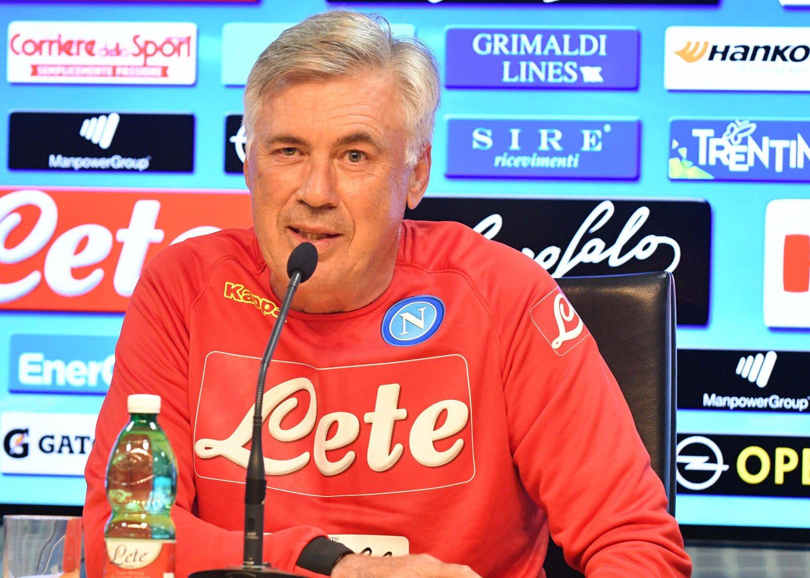 Ancelotti: «Per fortuna ho una rosa competitiva, più di undici calciatori possono giocare»