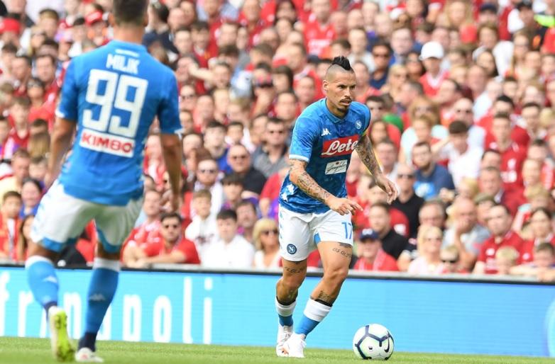 Liverpool-Napoli 2-0 al 45′: inizio horror, poi si vede un po' di squadra di Ancelotti