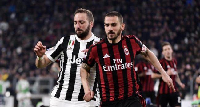Sky: chiuso l'accordo Juventus-Milan, Higuain-Caldara in rossonero e Bonucci di nuovo a Torino