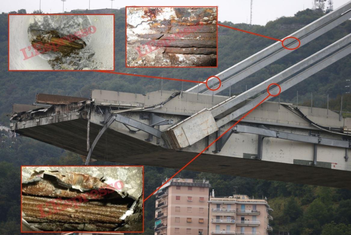 Genova: indagata la Spea. Un'ispezione del 2011 rivelava (con foto) lo stato precario del ponte