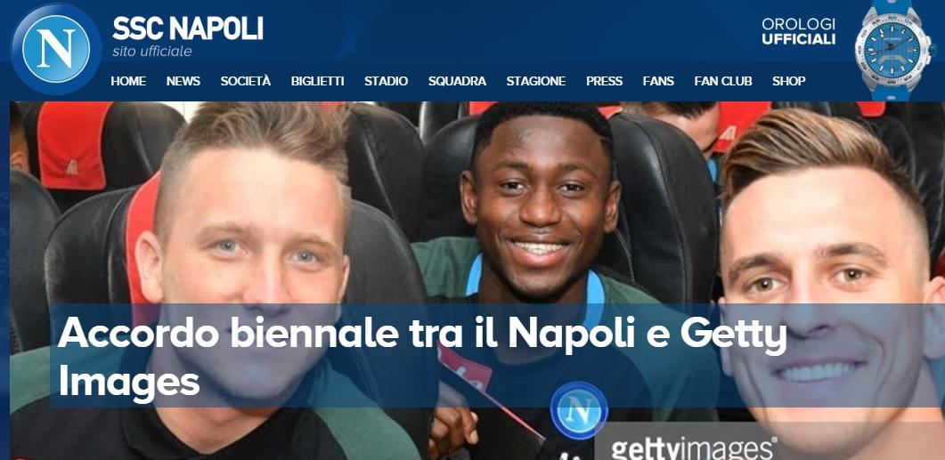 Napoli, accordo biennale con Getty: sarà l'agenzia fotografica del club