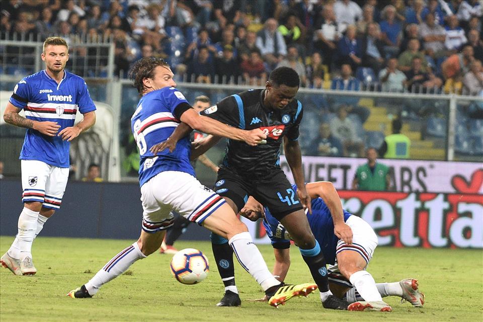 Il Napoli ha corso 6,5 chilometri in meno della Sampdoria