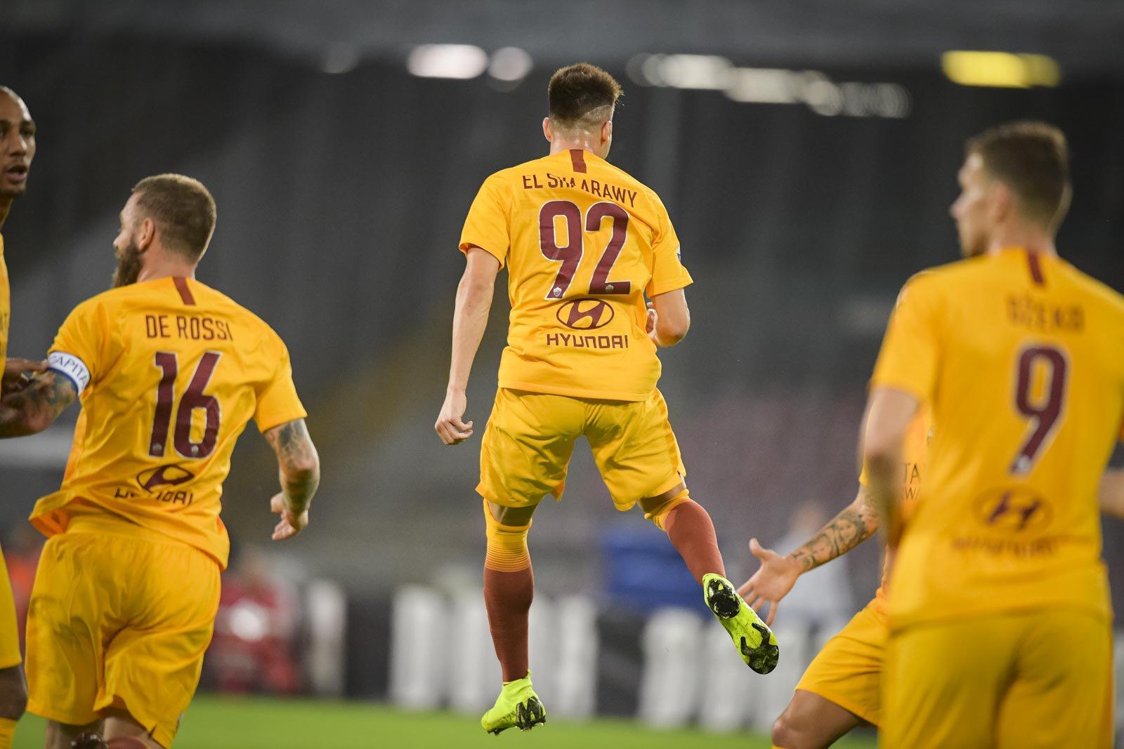 Napoli-Roma 0-1, il primo tempo: giallorossi concreti, azzurri spreconi sotto porta