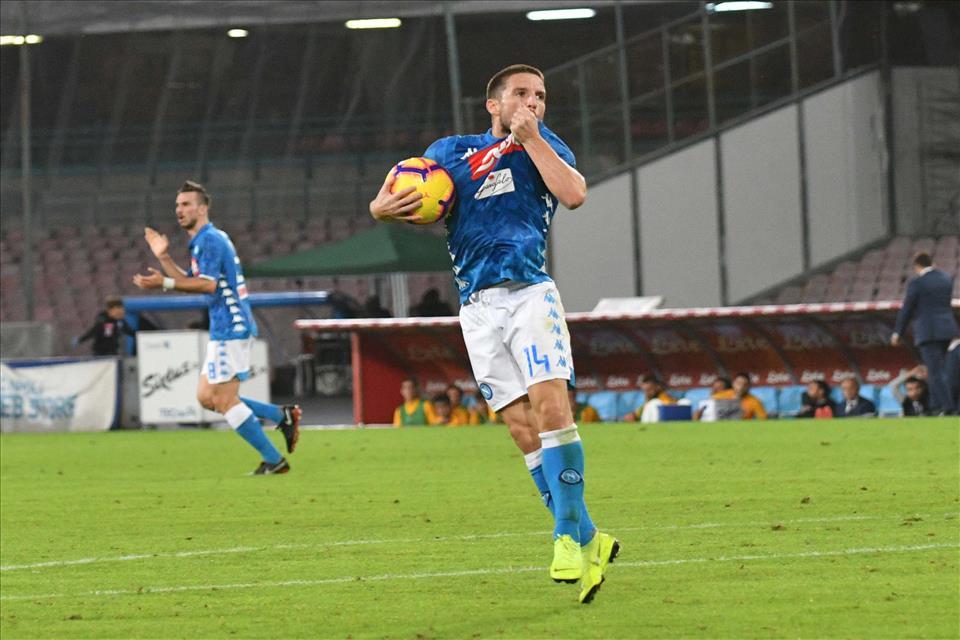 Oggi è Mertens il centravanti titolare del Napoli