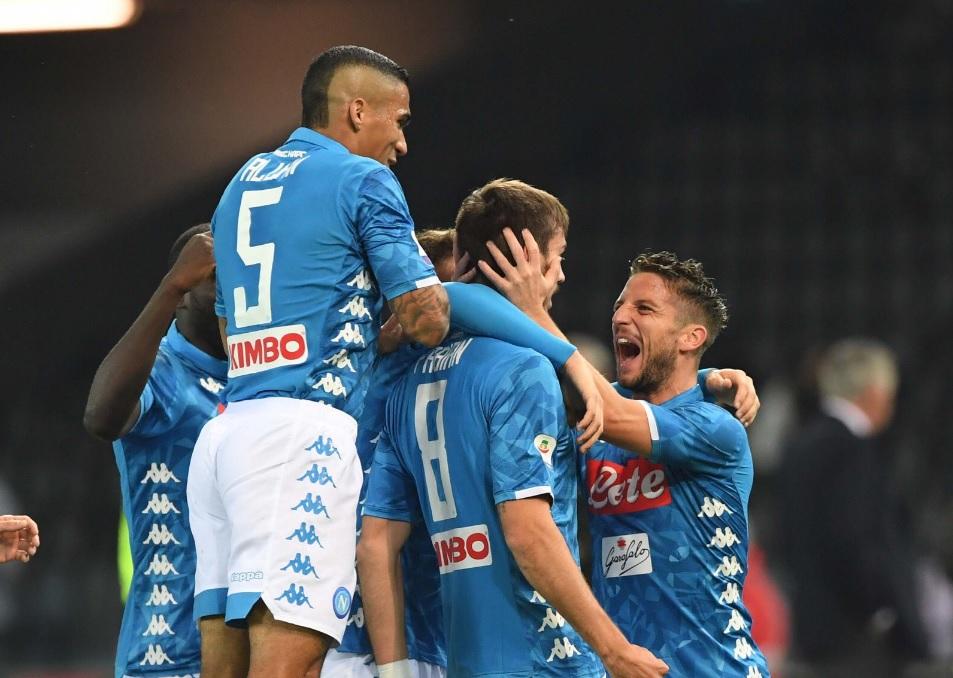 Quinta vittoria consecutiva contro l'Udinese, per il Napoli sesta partita (su dieci) senza gol subiti
