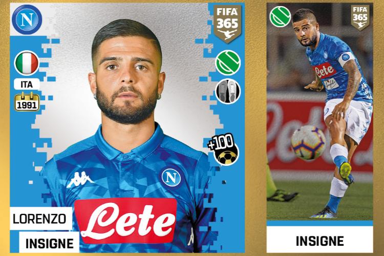 """Lorenzo Insigne e il Napoli nella collezione """"Panini Fifa 365"""""""