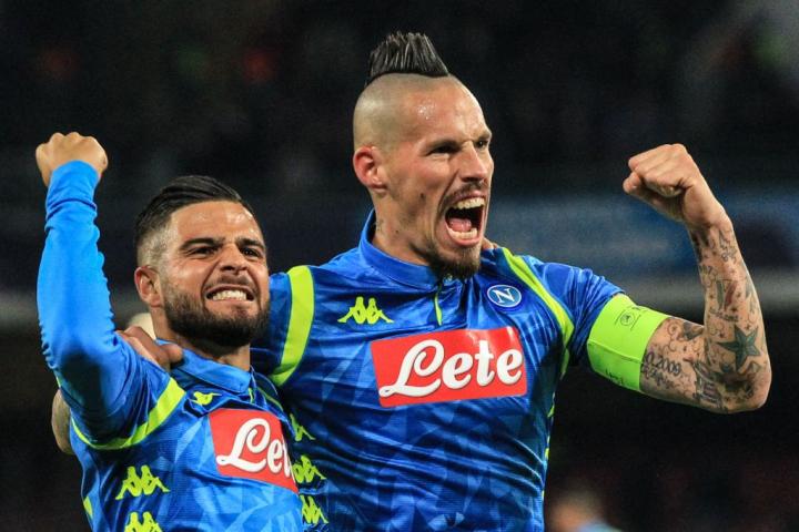 Napoli-Stella Rossa 2-0, primo tempo: dominio e gol (Hamsik e Mertens)