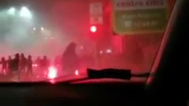 Inter-Napoli, il video degli scontri tra ultras