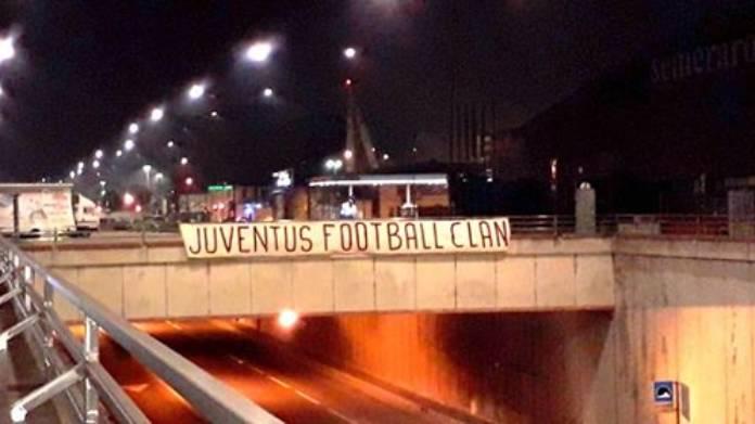 "Tensione a Torino, striscioni in città: ""Juventus Football Clan"""