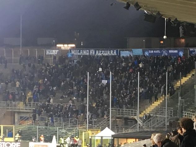 """""""Ancelotti uomo di merda"""" si alza dalla curva dell'Atalanta"""