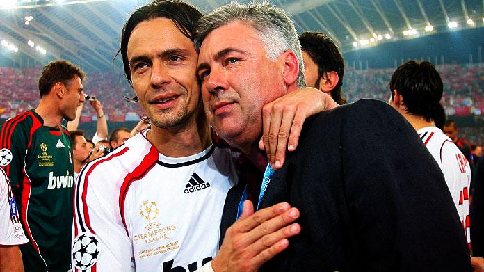 Ancelotti e Pippo Inzaghi, storia di un amore (tecnico) infinito