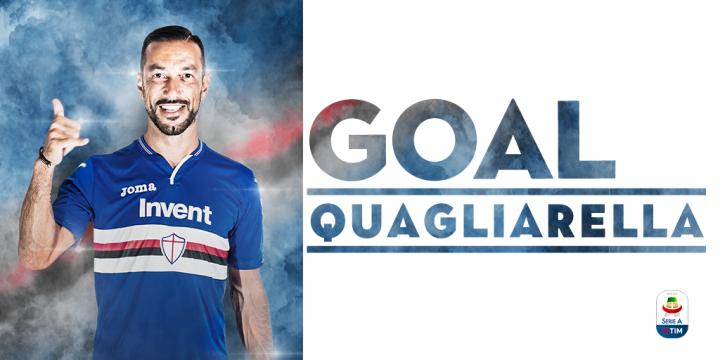 Fantastico Quagliarella, record di gol consecutivi in serie A