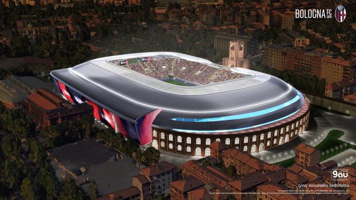 Il progetto del nuovo stadio del Bologna: 27mila posti