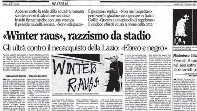 «Quando la nostra Lazio chiese a Winter di negare di essere ebreo»