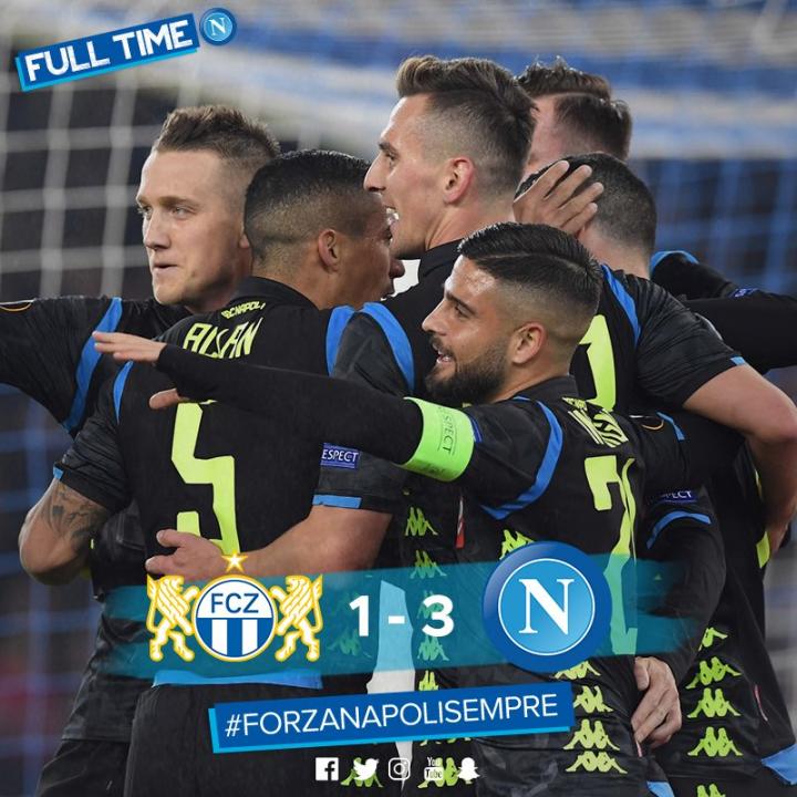 Zurigo-Napoli 1-3: e tirateli mo gli accendini