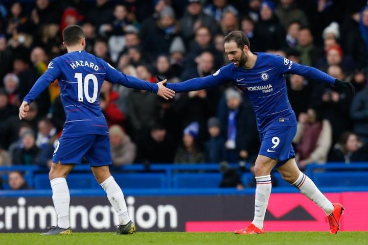 Doppiette di Higuain e Hazard: il Chelsea di Sarri batte 5-0 l'Huddersfield