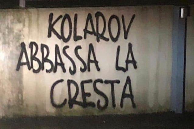 A Roma striscioni contro Kolarov