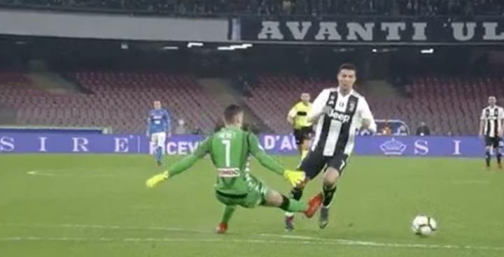 """Marchegiani a Sky: """"Espulsione Meret, non c'è la certezza del contatto con Ronaldo"""""""