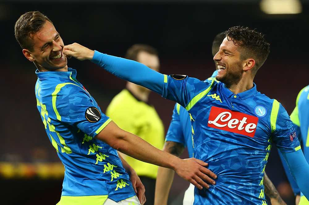 Con Milik e Mertens in campo, il Napoli segna più gol: una rete ogni 34 minuti