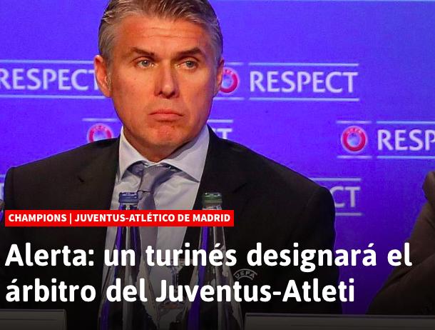 """As lancia l'allarme: """"il torinese Rosetti designerà l'arbitro di Juventus-Atletico Madrid"""""""