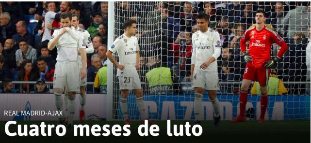 L'Ajax vince 4-1 a Madrid, Real umiliato e fuori dalla Champions