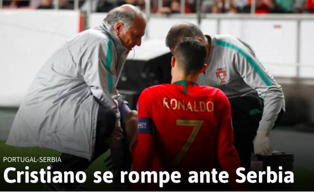 Cristiano Ronaldo si infortuna col Portogallo, contrattura alla coscia destra (VIDEO)