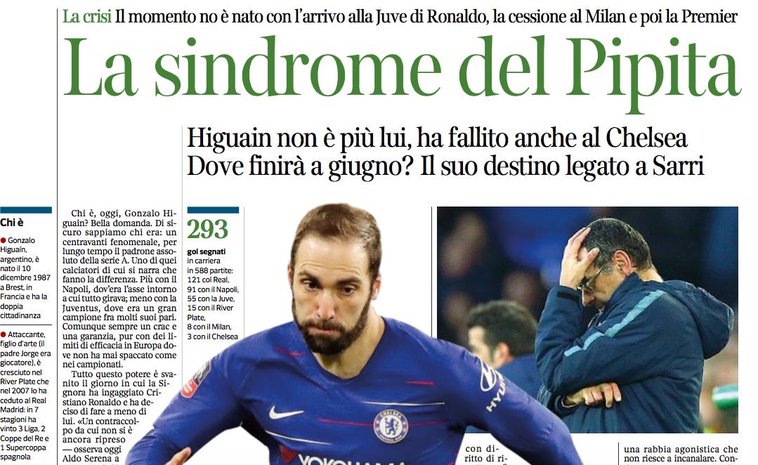 Higuain dai record contro Frosinone e Inter, ora in panchina a Manchester