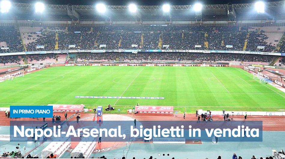 """TicketOne al Napolista: """"nessun problema per Napoli-Arsenal"""""""
