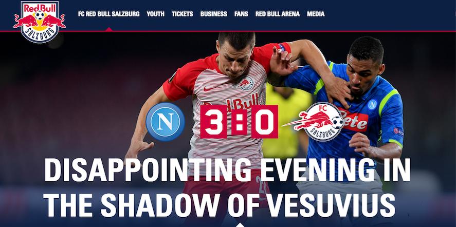 """Il Salisburgo: """"Stessi tiri in porta del Napoli, ma finisce 0-3"""""""