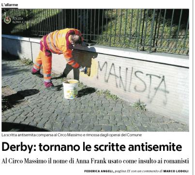 roma-lazio antisemitismo