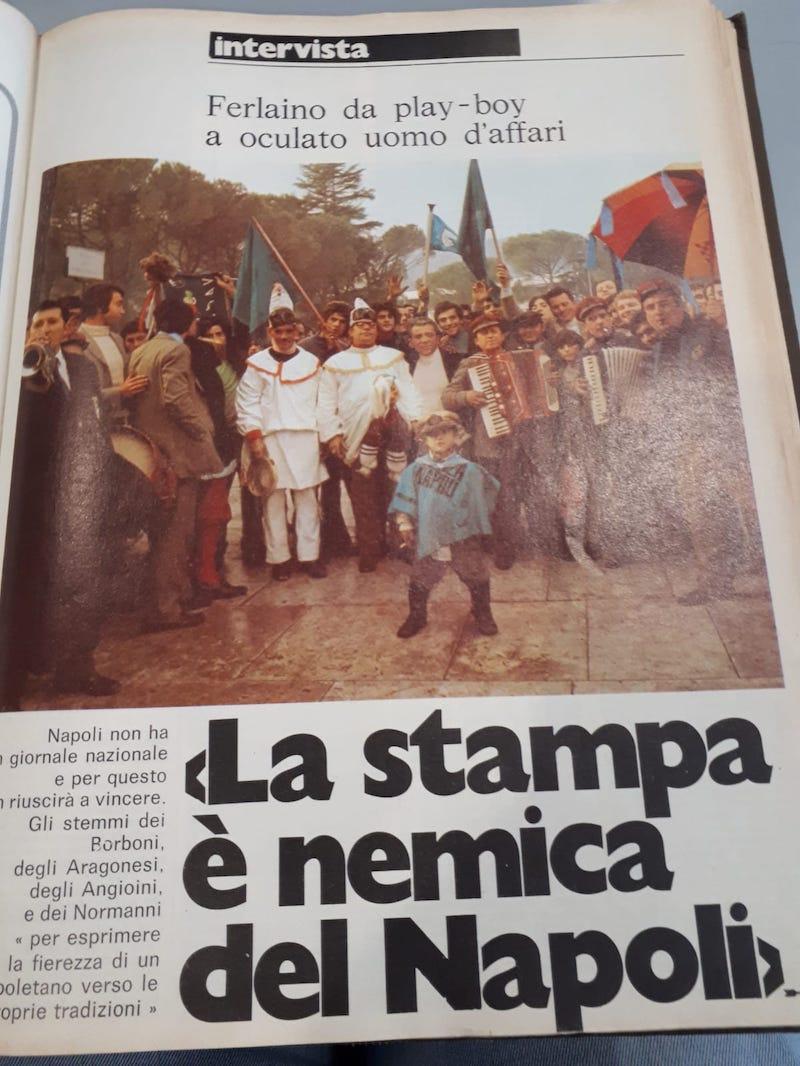 Nel 1974 Ferlaino al Guerin Sportivo: «Al Napoli per vincere lo scudetto manca un grande giornale»