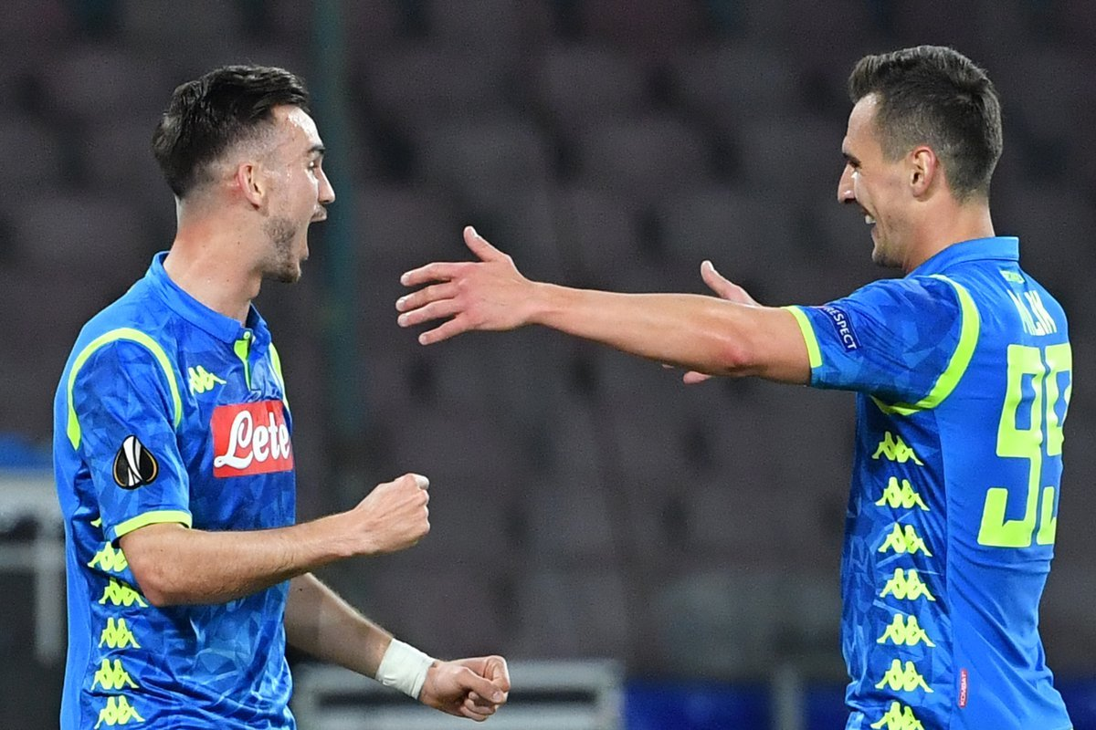 Il Napoli stavolta è cinico: Milik e Fabian, 2-0 al Salisburgo (primo tempo)