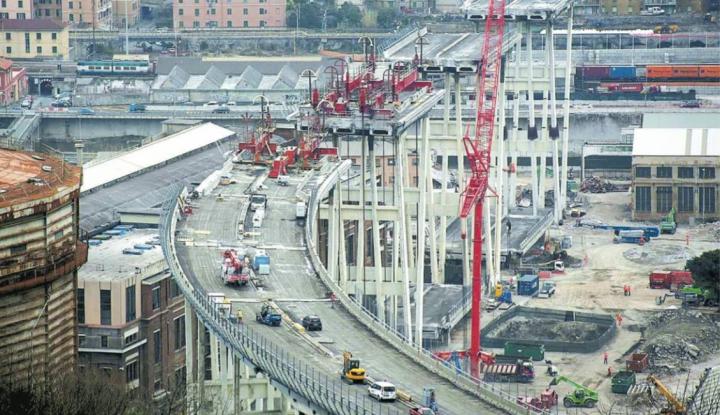 Ponte Morandi. Nuove analisi sul rischio amianto prima dell'esplosione della Pila 8