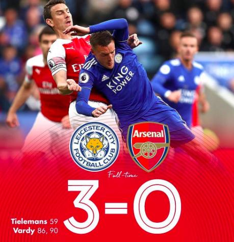 Tracollo Arsenal. Terza sconfitta consecutiva