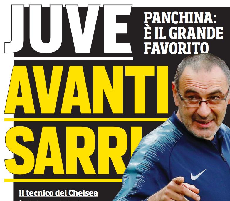 """Il Corsport: """"Juventus, Sarri favorito. Contatti ben avviati"""""""