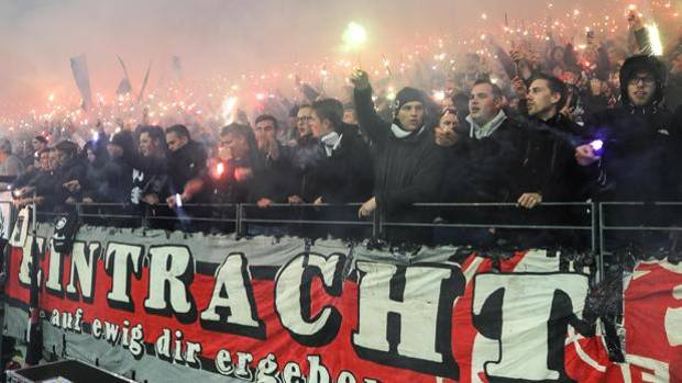 Coppa Italia: In arrivo ultrà dell'Eintracht a Roma gemellati con gli atalantini