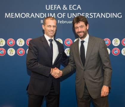 """Il Corsport: """"alla Uefa convinti che Ceferin ha sbagliato a fidarsi di Agnelli"""""""