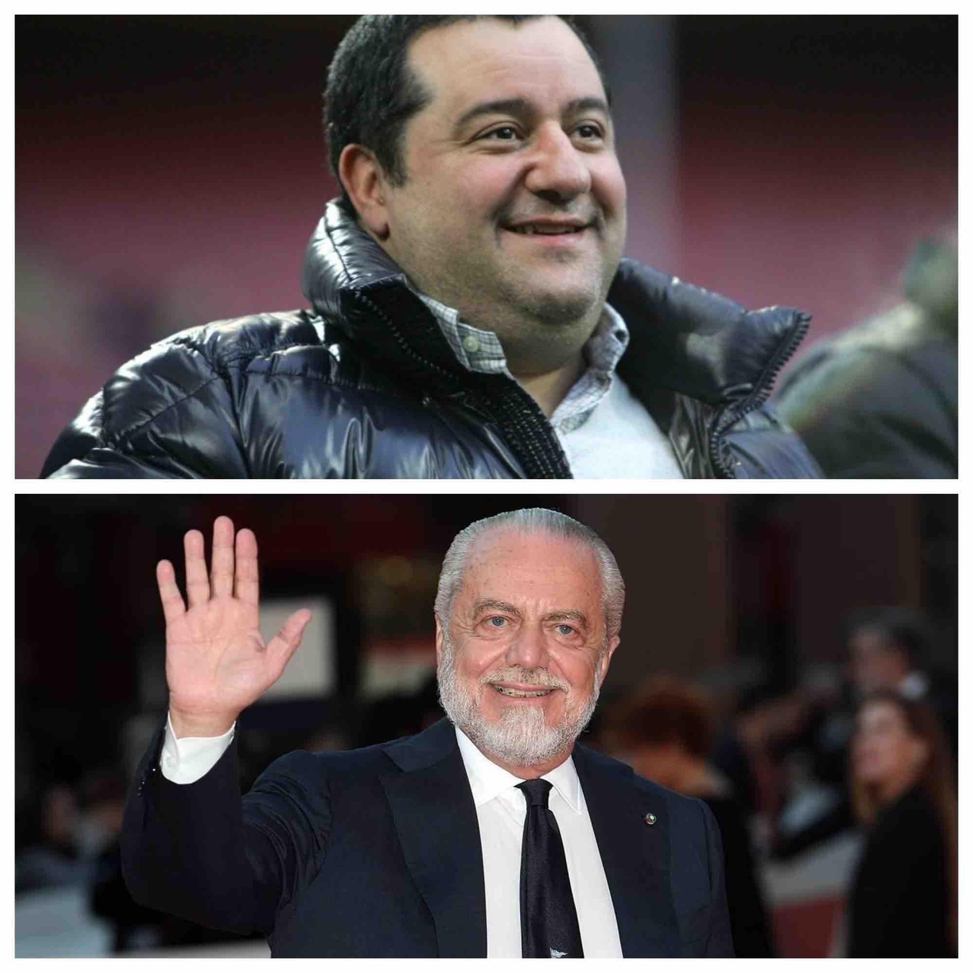 Gazzetta: Raiola non ha gradito la clausola di De Laurentiis per le sue eventuali offese al Napoli