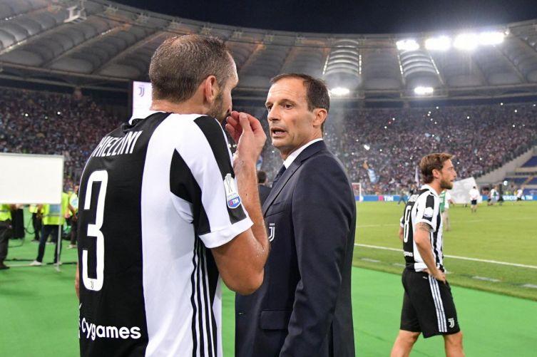"""Chiellini: """"Allegri? Potrebbe tornare. Spero che Conte all'Inter non vinca nulla"""""""