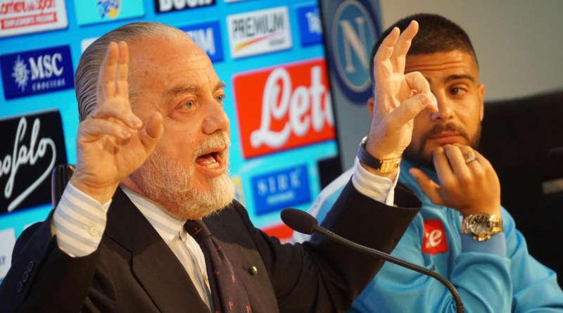 """De Laurentiis: """"Ancelotti merita 8. Insigne? non rinnova. Un vero capitano, sa parlare alla squadra"""""""