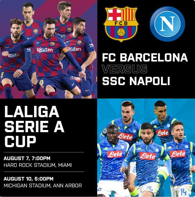 Disponibili in prevendita i biglietti per la doppia amichevole con il Barcellona