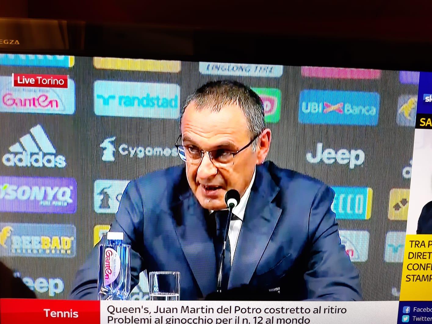 """Sarri: """"Mentre avevo dei dubbi sul percorso al Napoli, la società ha annunciato Ancelotti"""""""